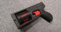 Something we liked from Instagram! Обучающийся на инженера студент из США Патрик Стюарт придумал создал и продемонстрировал работающий вариант револьвера полностью напечатанного на 3Д-принтере. Кроме ударного бойка и нескольких резинок заменяющих пружины все остальные части оружия полностью напечатаны из пластика. Это первое полуавтоматическое оружие напечатанное на 3Д-принтере. Револьвер получил название PM522 Washbear .22LR. Идея о печати револьвера родилась этим летом в среде энтузиастов…