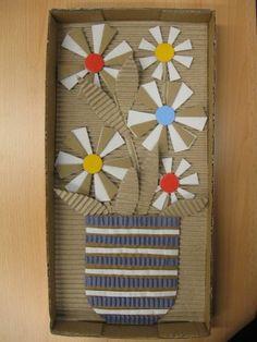Plastický obraz - květiny ve váze