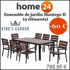 #missbonreduction; Réduction de 60€ sur l'Ensemble de jardin Montego II (9 éléments). http://www.miss-bon-reduction.fr//details-bon-reduction-Home24-i854755-c1835284.html