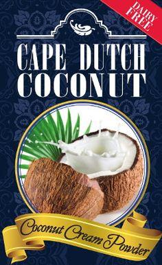 Coconut Cream Powder Cape Dutch Coconut #coconutcreampowder #coconutcream Cape Dutch, Banting, Coconut Cream, Dairy Free, Powder, Beef, Chocolate, Website, Lifestyle