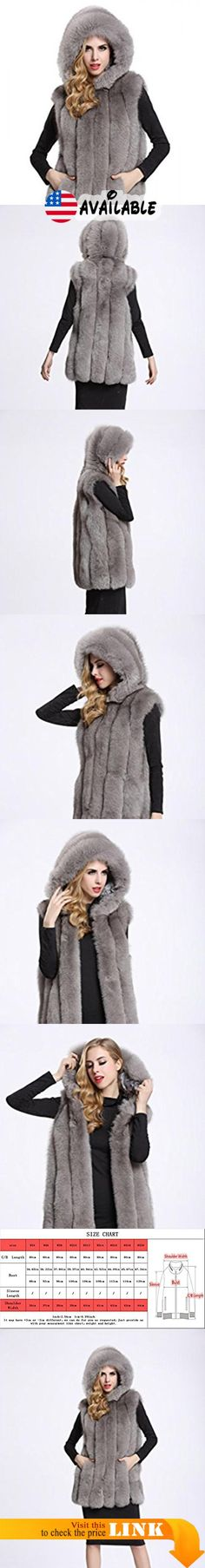 "B01ISNSNV8 : TOPFUR Women's Grey Real Fox Fur Vest Long Fur Gilets Waistcoat with Big Hood XL. Made from high quality and soft Genuine fox fur external which feels cozy on the skin and comfortable to wear.. Available Sizes and colors of stylish fur waistcoat excellently fit well with your demand. Length(S-6XL):31.35""(80cm). Elegant hat design with hook superb pattern look stereoscopic and gorgeous as the model when wearing this noble and fashion Pashminas These vests are"