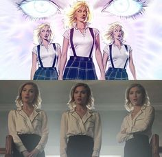 Esme, Sophie & Phoebe Frost / The Frost Sisters / The Stepford Cuckoos / Three-In-One Strucker Marvel, Marvel Girls, Marvel Funny, Marvel Heroes, Captain Marvel, Female Comic Characters, Marvel And Dc Characters, Marvel Movies, X Men