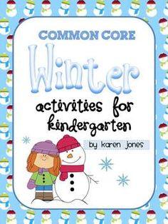Winter ELA & Math Common Core Unit! Centers, activities, Jan Brett Author Study & lots more! $