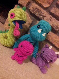 Amigurumi cute monsters