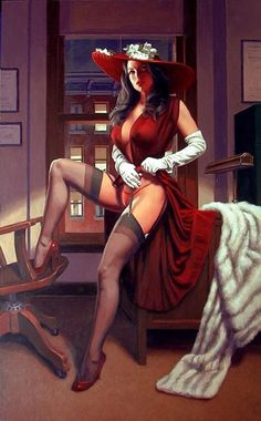 Greg-Hildebrandt - pinup !! Love this pic that is dominated by the great legs!