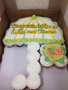 Baby Shower Umbrella Cupcake Cake