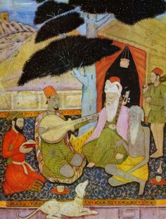 India Miniature Painting Reproduction Fine Art Print A Musical Gathering