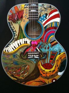 Really cool guitar painting!