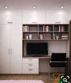 Home design office guest rooms 59 ideas Wardrobe Interior Design, Wardrobe Design Bedroom, Bedroom Bed Design, Bedroom Furniture Design, Small Room Bedroom, Home Interior Design, Study Table Designs, Study Room Design, Home Room Design