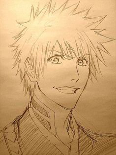 Anime/manga: Bleach Character: Ichigo, drawing of Ichigo. Who ever did this is good!