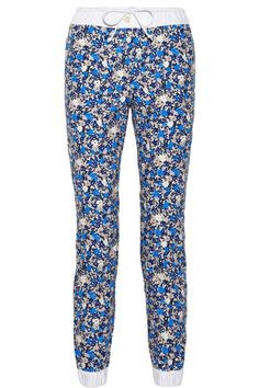 Sacai Sacai Luck floral-print cotton-canvas track pants NET-A-PORTER.COM