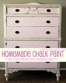 Recipe for knockoff Annie Sloan chalk paint.