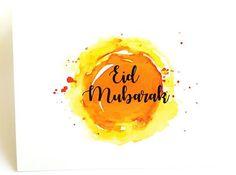 🔥 *Best* Happy Bakrid [August Wishes (Eid al-Adha Mubarak) - HD Images - Eid Mubarak Card, Adha Mubarak, Eid Card Designs, Eid Mubarek, Eid Crafts, Love Store, Eid Al Fitr, Paint Cards, Watercolor Background
