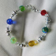 Girls Multi Color Crystal Glass and Silver by GlimmerOfBeauty
