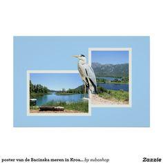 poster van de Bacinska meren in Kroatië