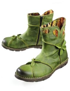 Rovers 'Jonna', green - Ankle Boots - Deerberg