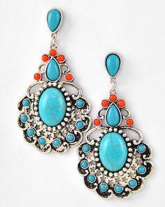 Daniella Blue Dangle Earrings