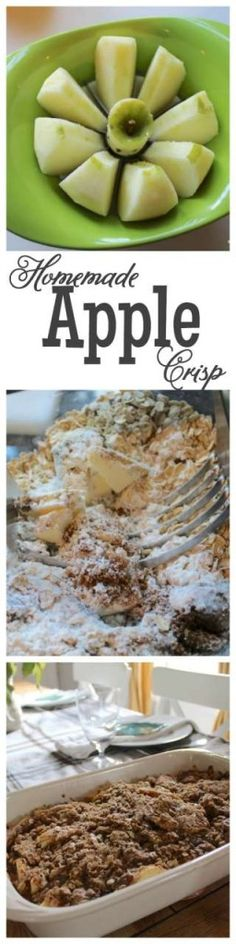 This is my favorite recipe for apple crisp! It's a quick and easy recipe that your family will be sure to enjoy! #apples #recipe http://lehmanlane.net