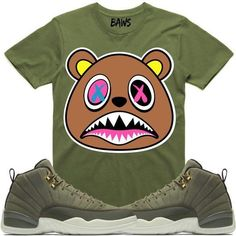 59c6a2f1889 Baws T-Shirt CRAZY BAWS Sneaker Tees Shirt - Jordan 12 Olive Chris Paul  Jordans