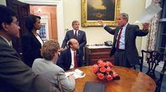 """""""NO LES GUSTARE COMO PRESIDENTE"""": REVELAN LAS PALABRAS QUE PRONUNCIO BUSH EL 11-S   """"No les gustaré como presidente"""": Revelan las palabras que pronunció Bush el 11-SEn un primer momento Bush trató de convencer a los servicios de inteligencia para que le permitiesen trasladarse a Washington. Ari Fleischer quien fuera secretario de Prensa de la Casa Blanca ha difundido los comentarios que el expresidente de Estados Unidos George W. Bush realizó mientras volaba a bordo del Air Force One durante…"""