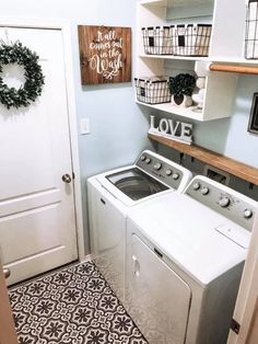 48 brilliant laundry room ideas for small spaces practical & efficient 2020 24 Source by home decor crafts small spaces Tiny Laundry Rooms, Laundry Decor, Laundry Room Remodel, Laundry Room Signs, Laundry Room Organization, Laundry In Bathroom, Decorate Laundry Rooms, Laundry Room Shelving, Small Laundry Area