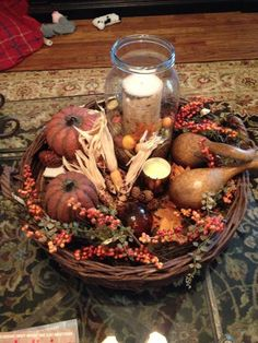 Traditional Home Decorating, fall decorating | 43 Fall Coffee Table Décor Ideas | DigsDigs