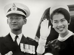 King Bhumibol and Queen Sirikit in younger days. King Bhumipol, King Rama 9, King Of Kings, King Queen, King Thailand, Queen Sirikit, King Photo, Bhumibol Adulyadej, King Of The World