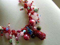 Kette,rot,bunt von kunstpause auf DaWanda.com