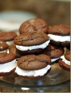 Whoopie Pies with Buttercream frosting like my Mom's homemade frosting! This frosting can also be used on cakes and cupcakes.