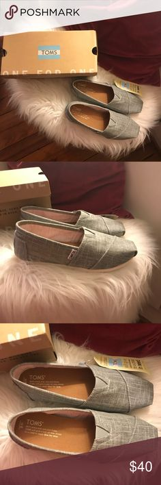 Toms Grayish, denim Toms flats  Brand new  Never worn  Perfect condition Toms Shoes Flats & Loafers