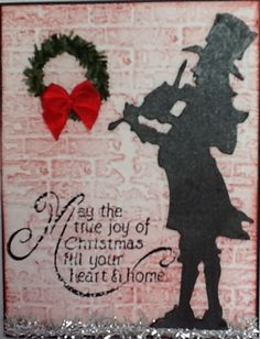 Tim Holtz Christmas Card with Victorian Caroler