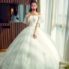 한국어 신부 웨딩 드레스 제나라 워드 어깨 웨딩 드레스 임신 여성 큰 야드 2017 봄과 여름 새 신부의 결혼식