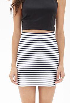 Ribbed Stripe Skirt