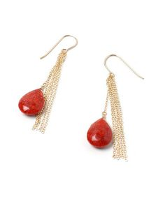 The Serretta earrings from The Serretta Website http://serretta.myshopify.com/collections/celebrity-jewellery-picks/products/red-sponge-coral-gold-earrings-kate-middleton