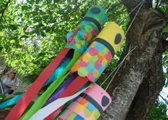 Japanese carp windsock craft for Japan week