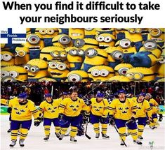 When you find it difficult to take swedish ice hokey team seriously Ice Hockey Teams, Hockey Games, Hockey Stuff, Finnish Memes, Bee Do, Pittsburgh Penguins, Lol, Make It Yourself, Olympics