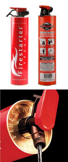 Firestarter Vodka. A new #packaging version of Firestarter Vodka a #PPOTD team fav PD