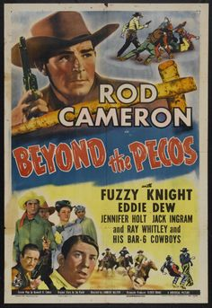 """Movie Posters:Western, Beyond The Pecos (Universal, 1944). One Sheet (27"""" X 41""""). Western.Starring Rod Cameron, Eddie Dew, Fuzzy Knight and Jennif... Image #1"""