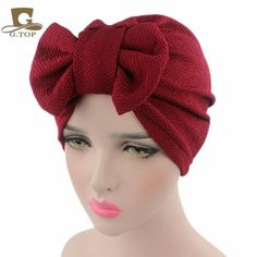 New women luxury bow Turban Hat Stylish Chemo cap