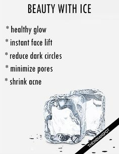 An easy way to minimize the appearance of pores and fine lines is by using an ice cube. There are also many different simple ways where you can use ice to br...