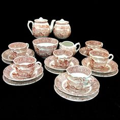 Early Staffordshire Children's Dishes