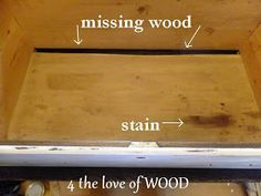 4 the love of wood: FIXING A BROKEN DRAWER - tutorial