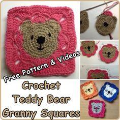The Homestead Survival | Crochet Teddy Bear Granny Squares, Free Pattern | http://thehomesteadsurvival.com