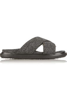 Marni Felt slides | NET-A-PORTER :: Felt, in case you didn't hear, is needed on all the things this season