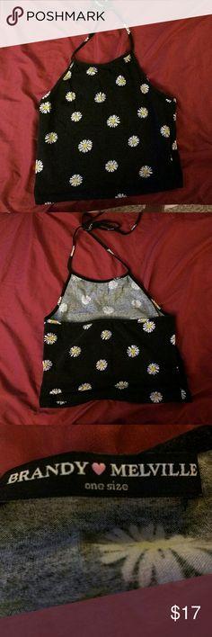 Brandy Melville daisy halter Never worn, no flaws Brandy Melville Tops Crop Tops
