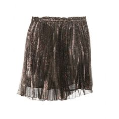 Isabel Marant - Leni pleated miniskirt - Isabel Marant's 'Leni' metallic miniskirt features an abstract print, an elasticated waistband and a pleated semi-sheer overlay. Channel the label's cool-girl vibe by styling it with a slouchy knit and statement ankle boots. seen @ www.mytheresa.com