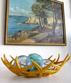 Beach house accessories.our starfish bowl featured!  #beachdecor #coastaldecor