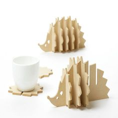 Wholesale- Non-slip Wooden coasters creative Place mat/office supplies coffee cup Mat Home Decor DIY handmade coaster simple animal shapes 3d Puzzel, 3d Laser Printer, Cup Mat, Wooden Coasters, Wood Working For Beginners, Woodworking Projects, Woodworking Jigs, Woodworking Quotes, Intarsia Woodworking