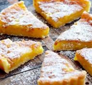 Whip up this fantastic recipe for Rustic Lemon Tart - and serve with tea or coffee