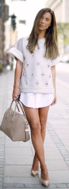 bling-bling Shirt in neutrals